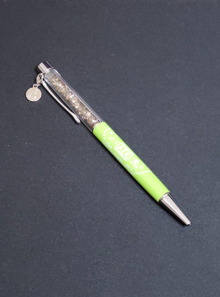【グッズ】キラキラビーズ入りボールペン(こちらオリジナルで作れます)電猫