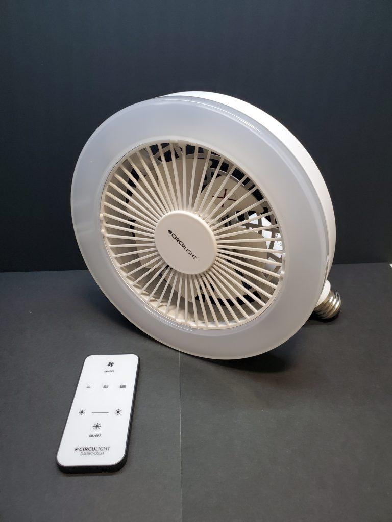 【レビュー】 ドウシシャ サーキュライト DSLS61LWH (ミニファン付きライト)