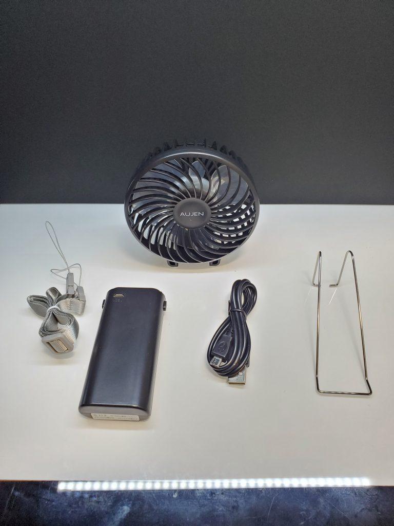 【レビュー】Aujen 携帯扇風機 (ハンディーファン)を購入しました。