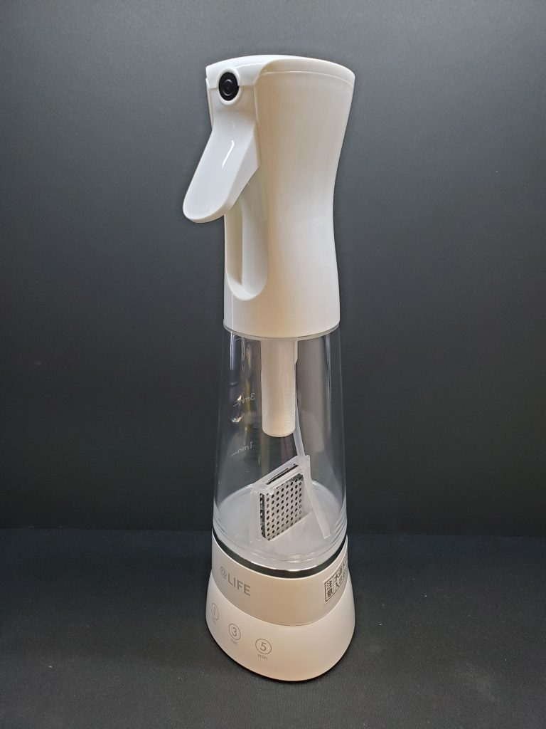 【レビュー】MTG「@LIFE e-3X 」水道水だけで作れる高機能除菌スプレーを買ってみた