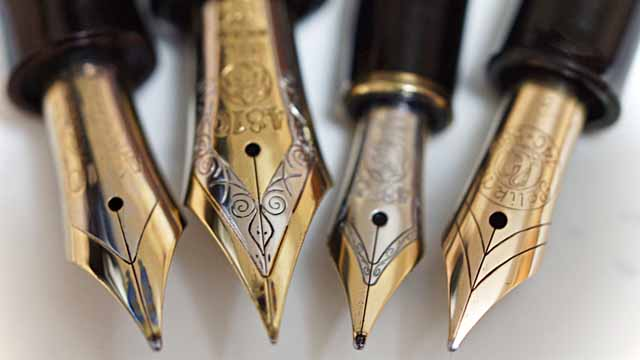 【豆知識】万年筆の太さのイメージ基本3種
